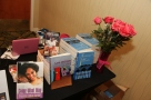 My book signing table.